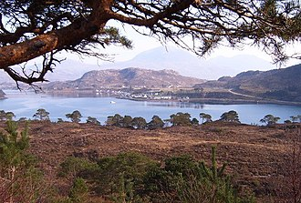 Wester Ross - Shieldaig, viewed from the road to Applecross .