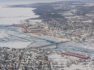 Sturgeon Bay, Wisconsin - Aerial view of Sturgeon Bay.