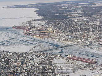 Sturgeon Bay, Wisconsin - Aerial view of Sturgeon Bay.