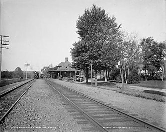 Morris and Essex Railroad - Short Hills Station, Delaware, Lackawanna and Western Railroad ca. 1895