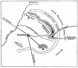 Siege of Plevna - Map