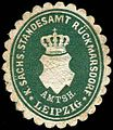Siegelmarke Königlich Sächsisches Standesamt Rückmarsdorf - Amtshauptmannschaft Leipzig W0252004.jpg