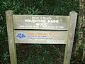 Sign at Houghton Hagg Wood - geograph.org.uk - 945128.jpg