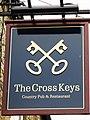 Sign for The Cross Keys - geograph.org.uk - 1581001.jpg