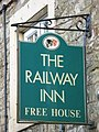 Sign for The Railway Inn, Low Row - geograph.org.uk - 1558874.jpg