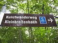 Signpost Kunstwanderweg Kleinbreitenbach.JPG