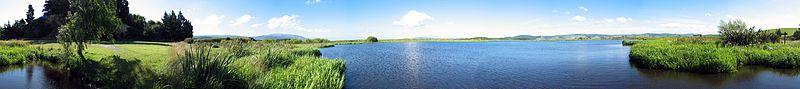 Sinclair Wetlands near Dunedin, in New Zealand.