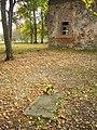 Single grave close to Mežotne church. Vientuļš kaps pie Mežotnes baznīcas. October, 2011 - Ivars Indāns - Panoramio.jpg