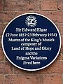 Sir Edward Elgar (2 June 1857-23 February 1934) Master of the King's Musick (Worcester Civic Society).jpg