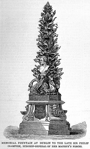 Sir Philip Crampton's memorial in Dublin Wellcome L0004798.jpg