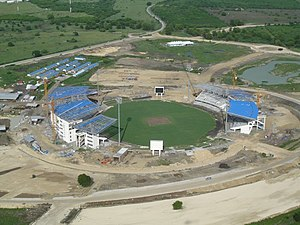 Sir Vivian Richards Stadium - The stadium during construction in October 2006