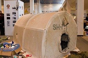Sirius Dog Sled Patrol - Sirius Patrol tent setup