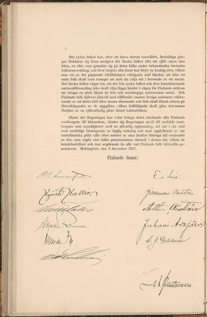 Självständighetsförklaringen 4 12 1917 2