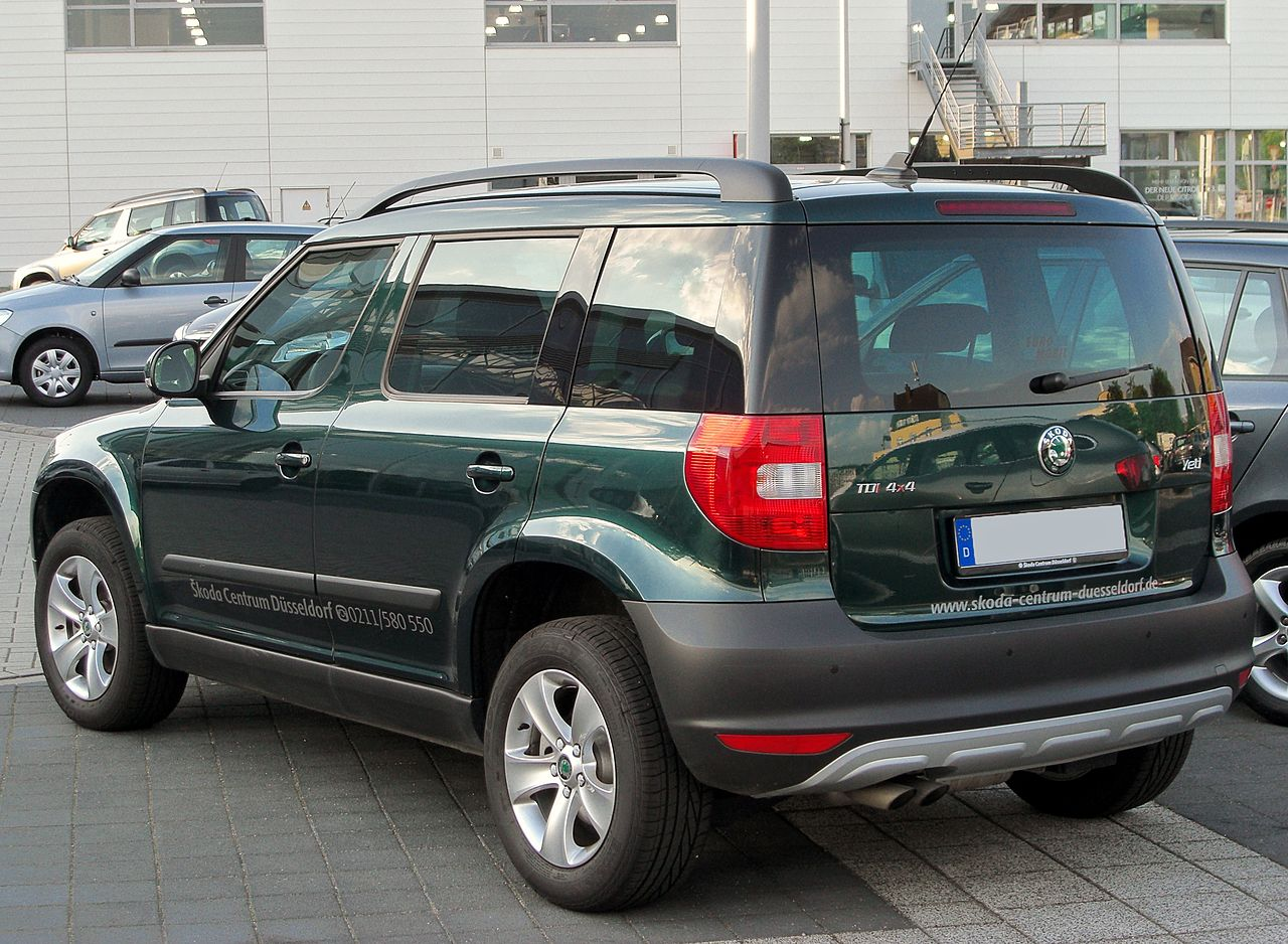 file skoda yeti 2 0 tdi 4x4 rear wikimedia commons. Black Bedroom Furniture Sets. Home Design Ideas