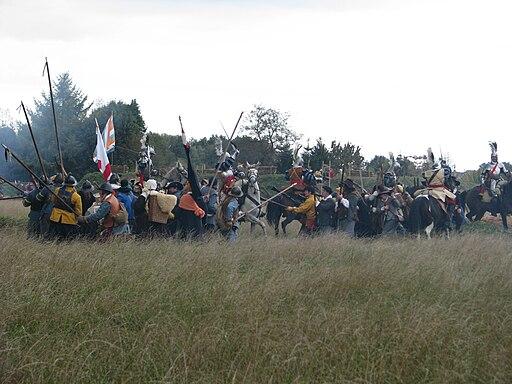 Slag om Grolle 2008-1 - Cavalerie uit Grol doet een uitval