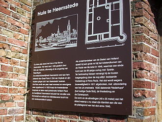 Heerlijkheid - Sign outside of former side of Heemstede Castle