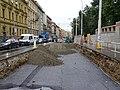 Smíchov, Plzeňská, rekonstrukce TT, od Erbenovy (01).jpg