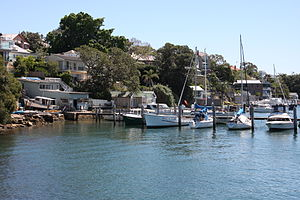 Birchgrove, New South Wales - Houses overlooking Snails Bay, Birchgrove (Wharf Road)