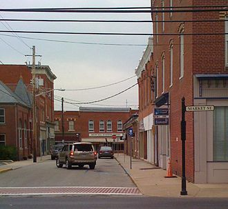 Snow Hill, Maryland - Image: Snow Hill business center (2008)