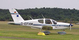 Strake (aeronautics) - Socata TB-200 ventral strakes