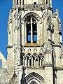 Soissons (02), abbaye Saint-Jean-des-Vignes, abbatiale, clocher nord, étage de beffroi, vue depuis l'est.jpg