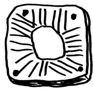 Castro of Vila Nova de São Pedro - Reproduction of a sun-like carving from the castro