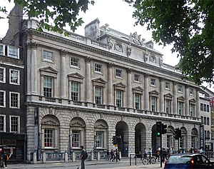 Courtauld Gallery - The Strand block of Somerset House, designed by William Chambers from 1775 to 1780, home of the Courtauld Institute and the Courtauld Gallery since 1989