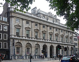 Courtauld Institute of Art - Somerset House in the Strand, home of the Institute and Gallery