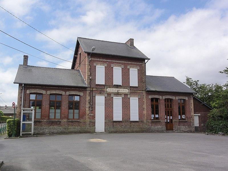 Sommeron (Aisne) mairie-école