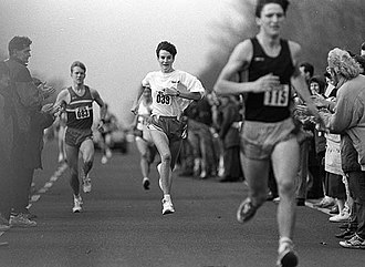 Sonia O'Sullivan - O'Sullivan wearing no. 39 in the Oman Cup Race in Dublin, 1992.