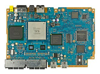 PlayStation 2 technical specifications - An SCPH-70001 motherboard.