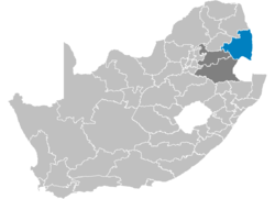 Ligging Ehlanzeni District Municipality