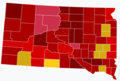 South Dakota House Election Results by County, 2020.png