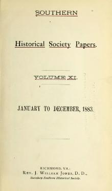 Southern Historical Society Papers volume 11.djvu