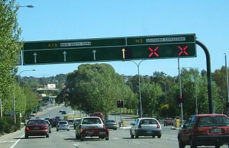 Australian Road Rules - Traffic on the Southern Expressway in Adelaide, South Australia.