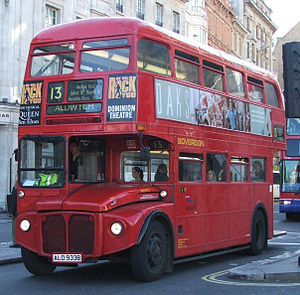 London Sovereign - AEC Routemaster on route 13 in March 2005