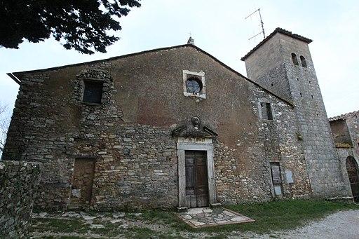 Sovicille, Pieve San Giovanni Battista a Molli, fasciata