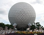 The Spaceship Earth geodesic sphere is the symbol of Epcot.