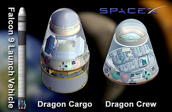 English: Artist's concept of SpaceX's Falcon 9...