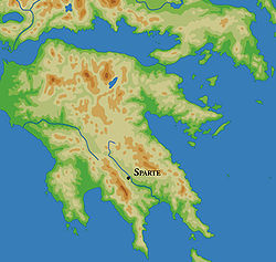 Η τοποθεσία της Σπάρτης