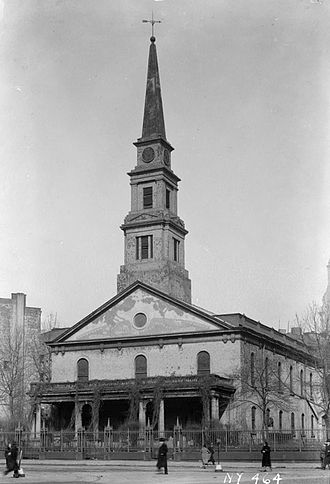 St. Mark's Church in-the-Bowery - The church in 1936  (HABS photo)