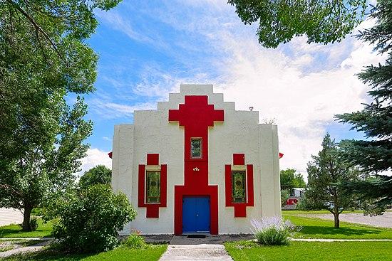 St. Agnes Mission Church, located in Sagauche, Colorado.