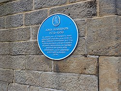 Photo of John Harrison blue plaque