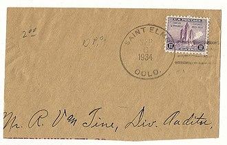 St. Elmo, Colorado - Image: St Elmo Colorado 1934