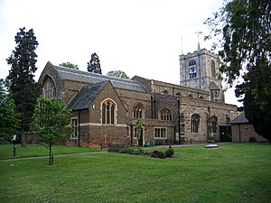 Biggleswade - St. Andrew's Church, still the town's main Anglican church