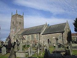 St Cynwyd's Church, Llangynwyd.jpg