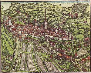 Heinrich Vogtherr - View of St. Gallen, 1545