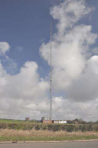 St Hilary transmitting station - Image: St Hilary Transmission Mast geograph.org.uk 1236014