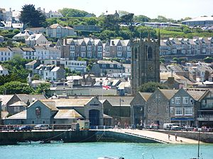 St Ives Lifeboat Station - Image: St Ives Lifeboat Station viewed across the harbour