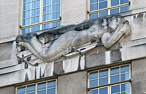 55 Broadway - Image: St James's Park Station sculptures – South Wind by Eric Gill